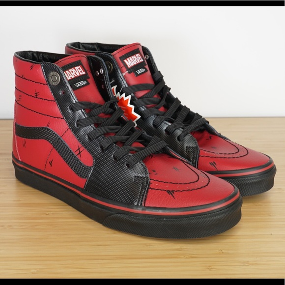 Marvel x Vans Deadpool SK8-Hi Leather Limited Shoe 55fedd764